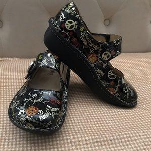 Alegria Peace Love Mary Jane Shoes